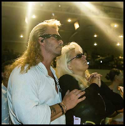 beth dog bounty hunter pictures. The Dog and Beth in church.