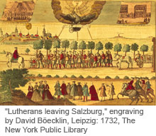 Lutherans leaving Salzburg